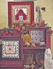 SEWING PATTERN Roosters & Red Barn Wall Quilts with Embroidery + Tea Towel UNCUT