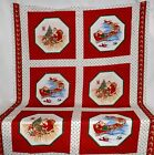 Cranston Night Before Christmas St. Nicholas Pillow and Christmas Wreath Fabric