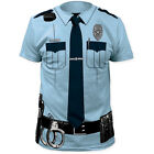 POLICE OFFICER COP Johnny Law Blue Halloween Costume Tee T Shirt S 2XL