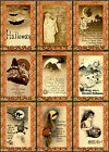 9 HALLOWEEN PUMPKIN WITCH HANG GIFT TAGS FOR SCRAPBOOK PAGES 05