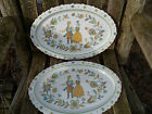 Set of 2 Sango One World Amish Country # 8012 Serving Large Plate Platter Japan
