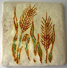Vintage WHEAT Corn Tile Trivet Kitchen Wall Semigres MADE IN ITALY Mid Century