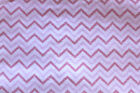 SNUGGLE FLANNEL CHEVRON PATTERN PINK on WHITE 100 Cotton Fabric NEW BTY