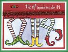 CHRISTMAS ELF LEGS Wood Mounted Rubber Stamp NORTHWOODS O9886 New