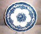 Johnson Brothers Persian Tulip 10.5 Inch Blue Transfer Ware Dinner Plate