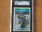 1982-83 O-PEE-CHEE RON FRANCIS ROOKIE CARD # 123 GRADED SGC 84 NM 7