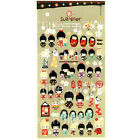 Kokeshi Style Transparent Diary Deco Stickers Labels Scrapbook Journal