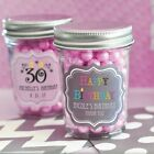 25 Personalized Mini Mason Jar 21st Sweet 15 16 Birthday Quinceanera Party Favor