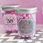 96 Personalized Mini Mason Candy Jar Birthday Party Favor