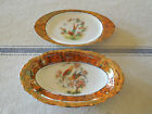 Moschendorf  Bavaria Oval Iridescent Bird Shallow Bowl and Plate