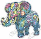Elephant Pastel Color Ornament Car Bumper Window Vinyl Sticker Decal 46