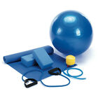 Yoga Fitness Set Calming Exercise Ball With Foot Pump Mat Work Out Yoga Band