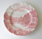 Vintage Red & White Plate By: Johnson Bros Of England
