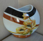 HAND PAINTED WHITE PORCELAIN VASE FLOWER PAINTING UNFINISHED 8
