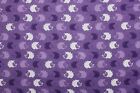 SNUGGLE FLANNEL PURPLE  WHITE HEDGEHOGS on PURPLE 100 Cotton FabricNEW BTY