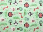 SNUGGLE FLANNEL BABY SAFARI ANIMALS on LT GREEN  100 Cotton Fabric NEW BTY