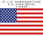 1 piece American Flag bumper sticker decal 5 military tactical USA US VINYL