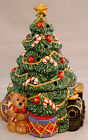 COLLECTIBLE FITZ & FLOYD 1994 CHRISTMAS TREE PILLAR CANDLE HOLDER