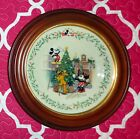 LENOX DISNEY Holiday Christmas Plate Decorating the Tree Mickey SIGNED BY ARTIST