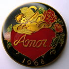 American Money Love Token - 1976 Amor Bronze Multi-Color Cloisonne Doubloon