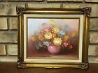 AUTHENTIC SIGNED ROBERT COX OIL ON CANVAS 13X11 FLORAL STILL FLOWER PAINTING