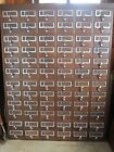 72 Drawer Wood Library Card File Cabinet