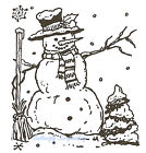Christmas Oscars Snowman Wood Mounted Rubber Stamp Northwoods Stamp E1887 New