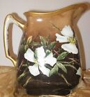 Handpainted Limoges Pitcher Wild Roses Martial Redon France Antique Water Jug