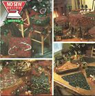 Christmas Table Skirt Placemat Seat Stool Basket Cover Fusible No Sew Pattern
