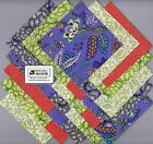 25 5 Purple Green Orange Fabric Squares Quilt Kit Calico Charm Packs 01 5027