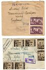 1946 Poland to GB Registered Airmail Covers x 2 / 25 + 30 Zloty.Rates.