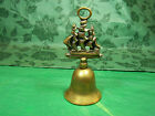 BELL  VINTAGE BRASS with old sailing  ship top...very nice