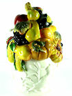 Cookie Jar Kaldun Bogle Fall Harvest Fruits Vegetables Hand Painted NOS VTG