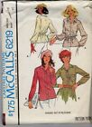 1978 Vintage McCall's 6219 Pattern 2 Styles of Button Down Blouses Size 18