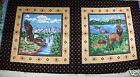Eagles Deer Pillow Panel 2 tops Cranston browns 1/2 yard mountains water NEW