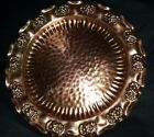 Vintage Gregorian Solid Copper Hammered Wall Plate Platter 9 1/2 inches