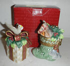 NIB Fitz and Floyd Gregorian Collection Horse Dove Salt & Pepper Shaker Set