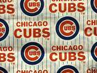 MLB  CHICAGO CUBS  100% COTTON  FABRIC 1/4  YARD   OOP