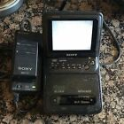 Sony GV-300 MiniDV Mini Portable Player Recorder 8mm Tape Deck -w- TV  RARE !!!