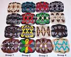 Double Magic Hair Combs, African Style Butterfly Clips, MultiColor Beads, SB