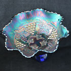Cable Carnival Glass Spatula Footed Ruffled Bowl - (tkm)