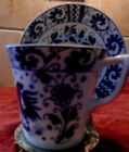 Rooster Cup and Saucer Set (s) Blue and White