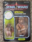 Star Wars Vintage Romba Ewok Action Figure New on Card with Collectors Coin 1984