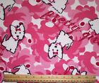 SNUGGLE FLANNEL PRETTY GIRL PUPPY DOG IN PINK 100 Cotton Fabric NEW BTY
