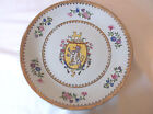 Vintage United Wilson 1897 Hand Painted Coat of Arms Charger Plate