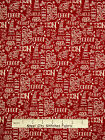 Christmas Fabric - Holiday Words Toss Red Whimsy Red Rooster #25206 - Yard