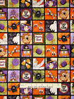 Halloween Fabric - Ghost Spider Bat Mummy Boppity Boo Red Rooster #24693 - Yard