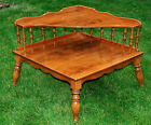 ETHAN ALLEN AMERICAN TRADITION 8583 TWO TIER MAPLE CORNER END TABLE EXCELLENT