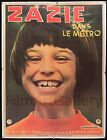 ZAZIE DANS LE METRO 1960 French 47x63 poster on linen Louis Malle filmartgallery