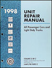 1998 Chevy Geo Manual Transmission Overhaul Book Tracker Metro Prizm OEM